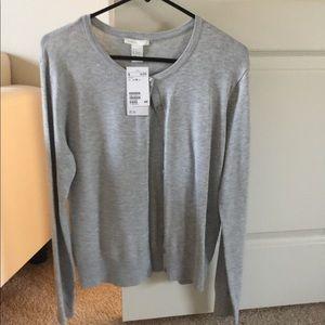 NWT H&M gray cardigan size M